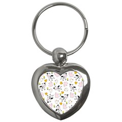 The Farm Pattern Key Chains (heart)  by Valentinaart