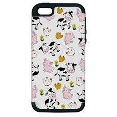 The Farm Pattern Apple Iphone 5 Hardshell Case (pc+silicone) by Valentinaart