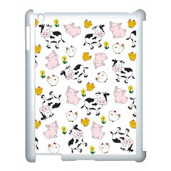 The Farm Pattern Apple Ipad 3/4 Case (white) by Valentinaart
