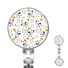 The Farm Pattern Stainless Steel Nurses Watch by Valentinaart