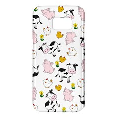 The Farm Pattern Samsung Galaxy S7 Edge Hardshell Case by Valentinaart