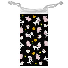 The Farm Pattern Jewelry Bag by Valentinaart