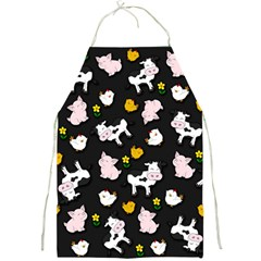 The Farm Pattern Full Print Aprons by Valentinaart