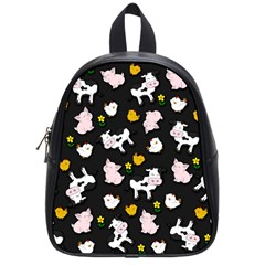 The Farm Pattern School Bag (small) by Valentinaart