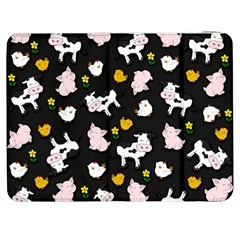 The Farm Pattern Samsung Galaxy Tab 7  P1000 Flip Case by Valentinaart