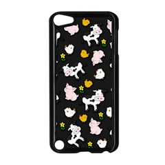 The Farm Pattern Apple Ipod Touch 5 Case (black) by Valentinaart