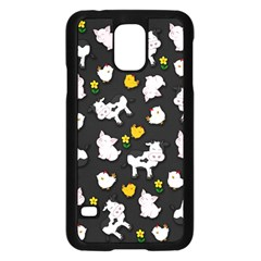 The Farm Pattern Samsung Galaxy S5 Case (black) by Valentinaart