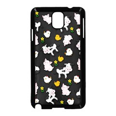 The Farm Pattern Samsung Galaxy Note 3 Neo Hardshell Case (black) by Valentinaart