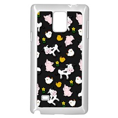 The Farm Pattern Samsung Galaxy Note 4 Case (white) by Valentinaart
