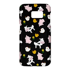 The Farm Pattern Samsung Galaxy S7 Hardshell Case  by Valentinaart
