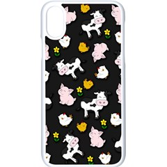 The Farm Pattern Apple Iphone X Seamless Case (white) by Valentinaart
