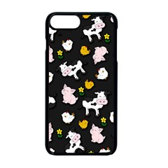 The Farm Pattern Apple Iphone 8 Plus Seamless Case (black) by Valentinaart