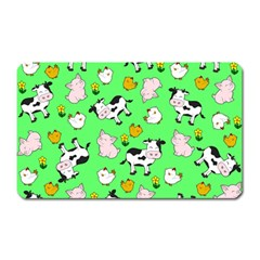 The Farm Pattern Magnet (rectangular) by Valentinaart