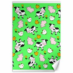 The Farm Pattern Canvas 12  X 18   by Valentinaart