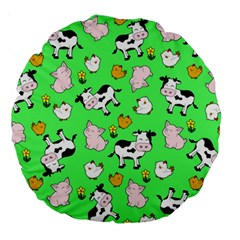 The Farm Pattern Large 18  Premium Round Cushions