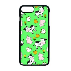 The Farm Pattern Apple Iphone 7 Plus Seamless Case (black) by Valentinaart