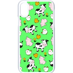 The Farm Pattern Apple Iphone X Seamless Case (white)