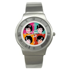 Valerie Solanas Stainless Steel Watch by Valentinaart