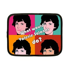Valerie Solanas Netbook Case (small)  by Valentinaart