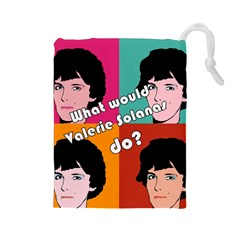 Valerie Solanas Drawstring Pouches (large)