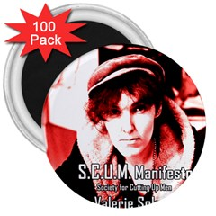 Valerie Solanas 3  Magnets (100 Pack) by Valentinaart