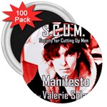 Valerie Solanas 3  Magnets (100 pack) Front