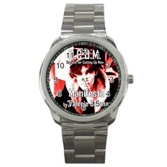 Valerie Solanas Sport Metal Watch by Valentinaart