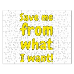 Save Me From What I Want Rectangular Jigsaw Puzzl by Valentinaart