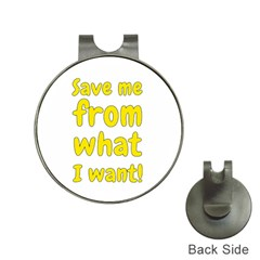 Save Me From What I Want Hat Clips With Golf Markers by Valentinaart