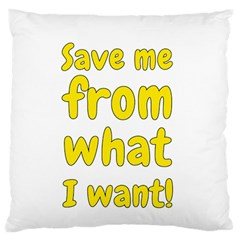 Save Me From What I Want Standard Flano Cushion Case (two Sides)
