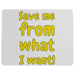 Save Me From What I Want Jigsaw Puzzle Photo Stand (rectangular) by Valentinaart