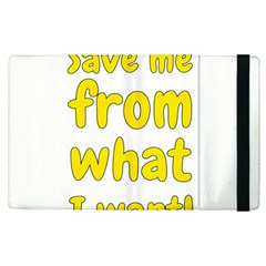 Save Me From What I Want Apple Ipad Pro 9 7   Flip Case by Valentinaart