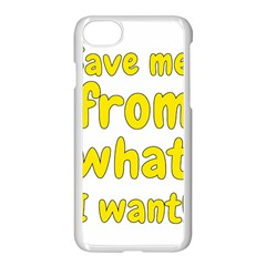 Save Me From What I Want Apple Iphone 8 Seamless Case (white)