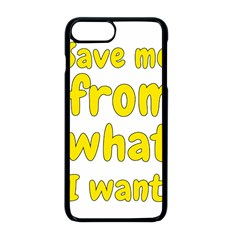 Save Me From What I Want Apple Iphone 8 Plus Seamless Case (black)