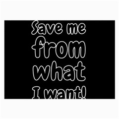 Save Me From What I Want Large Glasses Cloth (2 Side) by Valentinaart