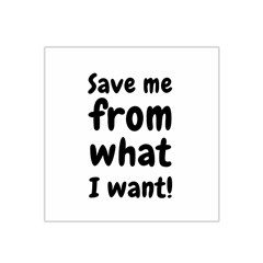 Save Me From What I Want Satin Bandana Scarf by Valentinaart