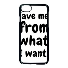 Save Me From What I Want Apple Iphone 7 Seamless Case (black) by Valentinaart