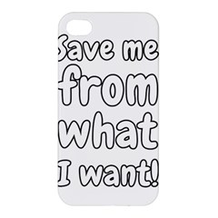 Save Me From What I Want Apple Iphone 4/4s Premium Hardshell Case by Valentinaart
