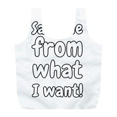 Save Me From What I Want Full Print Recycle Bags (l)