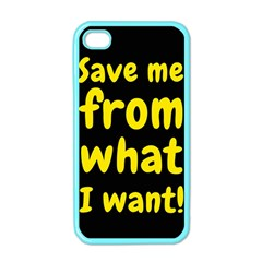 Save Me From What I Want Apple Iphone 4 Case (color) by Valentinaart
