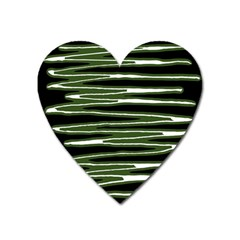 Sketched Wavy Stripes Pattern Heart Magnet by dflcprints