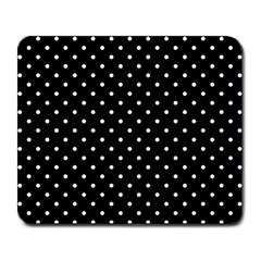 Black Polka Dots Large Mousepads
