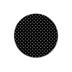 Black Polka Dots Magnet 3  (round) by jumpercat