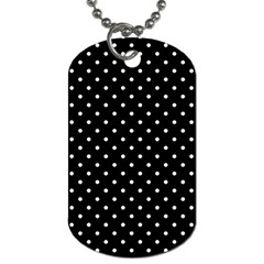 Black Polka Dots Dog Tag (one Side)