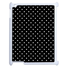 Black Polka Dots Apple Ipad 2 Case (white) by jumpercat