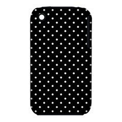 Black Polka Dots Iphone 3s/3gs