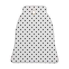 White Polka Dots Bell Ornament (two Sides)