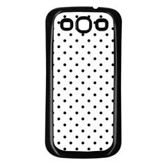 White Polka Dots Samsung Galaxy S3 Back Case (black) by jumpercat