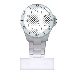 White Polka Dots Plastic Nurses Watch by jumpercat