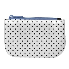 White Polka Dots Large Coin Purse by jumpercat